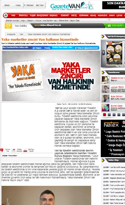 gazetevan haber sitesi